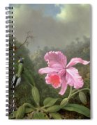 Still Life With An Orchid And A Pair Of Hummingbirds Spiral Notebook