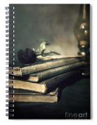 Still Life With Books And Roses Spiral Notebook