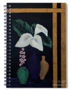 Still Life With Calla Lilies Spiral Notebook