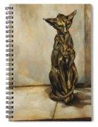 Still Life With Cat Sculpture Spiral Notebook