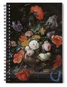 Still Life With Flowers And Watch Spiral Notebook