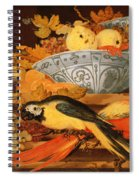 Still Life With Fruit And Macaws, 1622 Spiral Notebook
