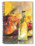 Still Life With Fruits And Flowers And Bottle Spiral Notebook