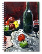 Still Life With Fruits And Wine Spiral Notebook