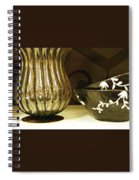 Still Life With Golden Vase Spiral Notebook