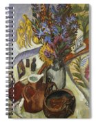 Still Life With Jug And African Bowl Spiral Notebook