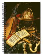 Still Life With Musical Instruments Oil On Canvas Spiral Notebook