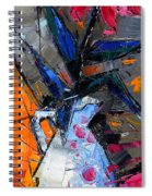 Still Life With Pink Peony In White Vase Spiral Notebook