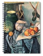 Still Life With Pitcher And Aubergines Oil On Canvas Spiral Notebook