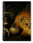 Still Life With Pumpkin And Onions Spiral Notebook