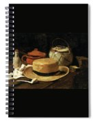 Still Life With Straw Hat Spiral Notebook