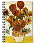 Still Life With Sunflowers Spiral Notebook