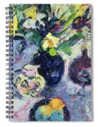 Still Life With Turquoise Bottle Spiral Notebook