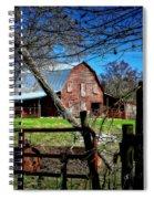 Still Useful Rustic Red Barn Art Oconee County Spiral Notebook