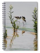 Stilts Hunting And Pecking Spiral Notebook