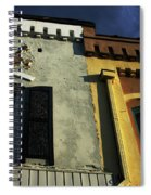 Stitched Buildings Spiral Notebook