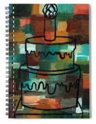Stl250 Birthday Cake Earth Tones Abstract Spiral Notebook