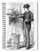 Stock Ticker, 1885 Spiral Notebook