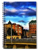 Stockholm In Color Spiral Notebook