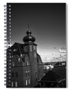 Stockholm In Dark Black And White Spiral Notebook