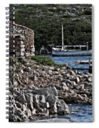 Roman Port Of Sa Nitja In Minorca - Stone And Sea Spiral Notebook