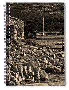 Roman Port Of Sa Nitja In Minorca - Stone And Sea Sephia Version Spiral Notebook