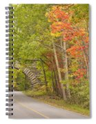 Stone Arch Bridge In Acadia National Park Spiral Notebook