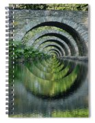 Stone Arch Bridge Over Troubled Waters - 1st Place Winner Faa Optical Illusions 2-26-2012 Spiral Notebook