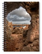 A Natural Stone Arch In North Coast Of Minorca Appears Like A Pass To One Thousand And One Night  Spiral Notebook