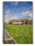 Stone Barn On A Spring Morning Spiral Notebook