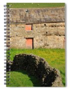 Stone Barn With Red Doors In Swaledale Yorkshire Dales Spiral Notebook