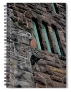 Stone Building Facade With Trefoil Window And Carved Detail Spiral Notebook
