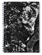 Stone Church In Black And White Spiral Notebook