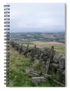 Old Dry Stacked Stone Fence Of Scotland Spiral Notebook