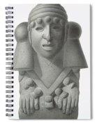 Stone Idol Of The Rain God Cocijo Spiral Notebook