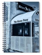 Stone Pony Cool Blue Spiral Notebook