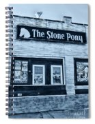 Stone Pony Cool Side View Spiral Notebook