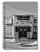 Stone Pony In Black And White Spiral Notebook