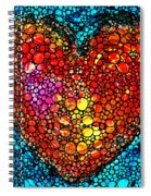 Stone Rock'd Heart - Colorful Love From Sharon Cummings Spiral Notebook