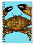 Stone Rock'd Stone Crab By Sharon Cummings Spiral Notebook