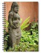 Stone Statue In Bali Indonesia  Spiral Notebook