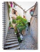 Stone Streets Of Old Trogir Spiral Notebook