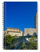 Stone Town Of Lubenice In Croatia Spiral Notebook