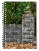 Stone Wall And Gate Spiral Notebook