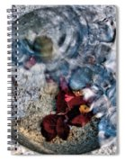 Stones And Fall Leaves Under Water-41 Spiral Notebook
