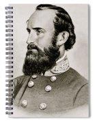 Stonewall Jackson Confederate General Portrait Spiral Notebook
