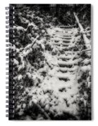 Stony Steps Covered With Snow Spiral Notebook