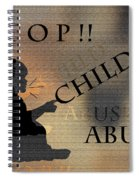 Stop Child Abuse Spiral Notebook