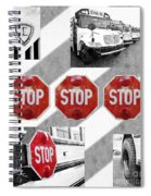 Stop For Students Painterly Bw Red Signs Spiral Notebook