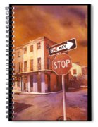 Stop- French Quarter Ahead Spiral Notebook